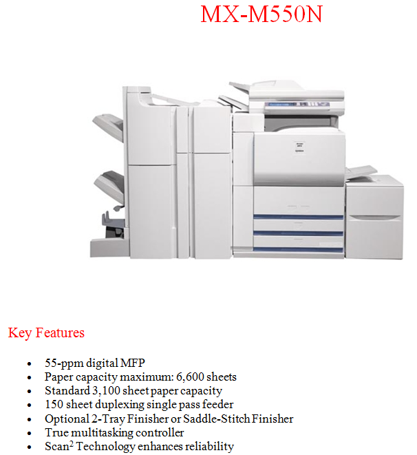 Sharp Copiers & MFP's Cumming GA.